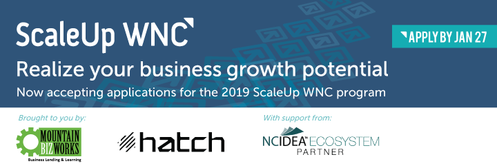Now accepting applications for ScaleUp WNC 2019