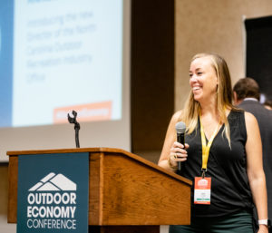 Amy Allison at the 2019 Outdoor Economy Conference