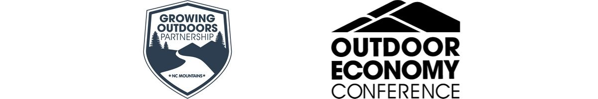 Logos of the Growing Outdoors Partnership and the Outdoor Economy Conference