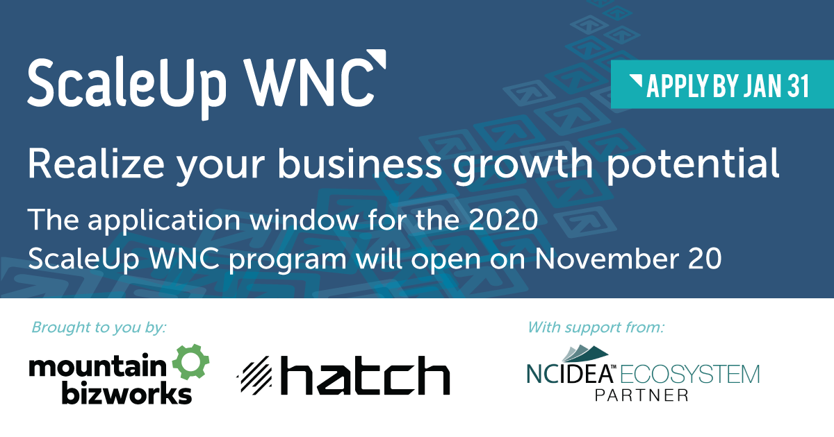 Apply now for the 2020 ScaleUp program