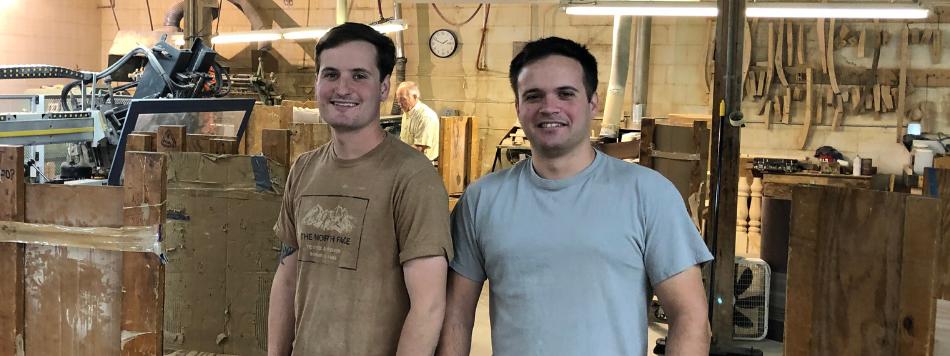 Photo of Charlie and Hunter Munday, Co-owners of Carolina Leg Co.
